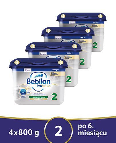 BEBILON 2 PROFUTURA Mleko modyfikowane w proszku - 4x800 g - cena, opinie, właściwości