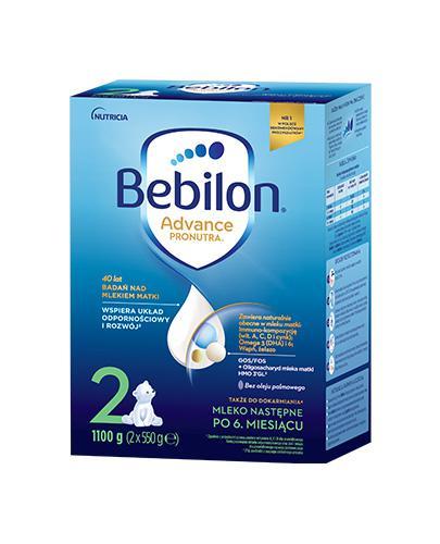 Bebilon 2 z Pronutra-Advance Mleko modyfikowane w proszku - 1100 g Dla niemowląt od 6 miesiąca życia - cena, opnie, stosowanie  - Drogeria Melissa