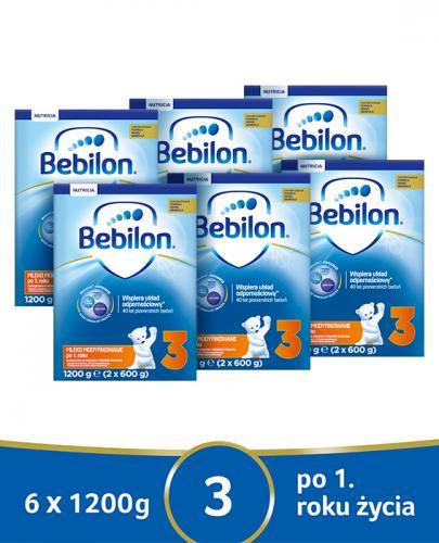 BEBILON 3 JUNIOR Pronutra-Advance Mleko modyfikowane w proszku - 6x1200 g