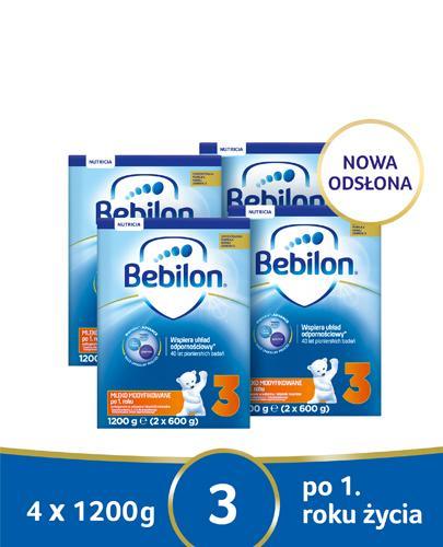 BEBILON 3 JUNIOR Pronutra-Advance Mleko modyfikowane w proszku - 4x1200g - Apteka internetowa Melissa