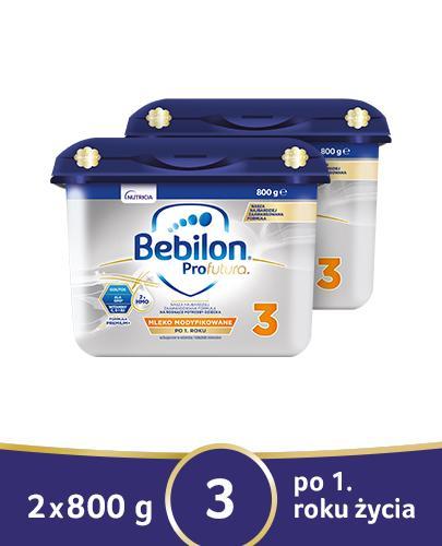 BEBILON 3 PROFUTURA Mleko modyfikowane w proszku - 2x800 g - cena, opinie, wskazania