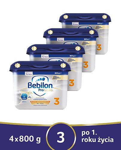 BEBILON 3 PROFUTURA Mleko modyfikowane w proszku - 4x800 g