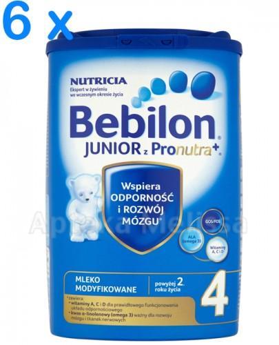 BEBILON 4 JUNIOR Z PRONUTRA Mleko modyfikowane w proszku - 6 x 800 g - Apteka internetowa Melissa
