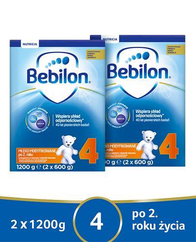 BEBILON 4 JUNIOR Pronutra-Advance Mleko modyfikowane w proszku - 2x1200 g