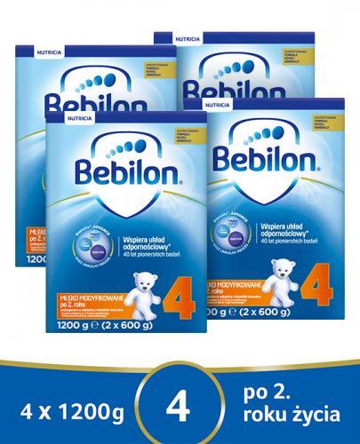 BEBILON 4 JUNIOR Z PRONUTRA+ Mleko modyfikowane w proszku - 4x1200 g - Apteka internetowa Melissa