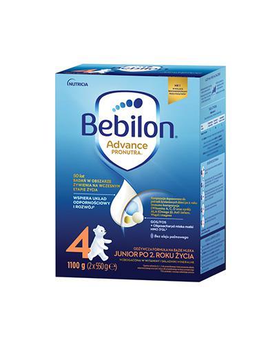 Bebilon 4 z Pronutra-Advance Mleko modyfikowane w proszku - 1100 g Dla dzieci powyżej 2. roku życia - cena, opinie, stosowanie  - Drogeria Melissa