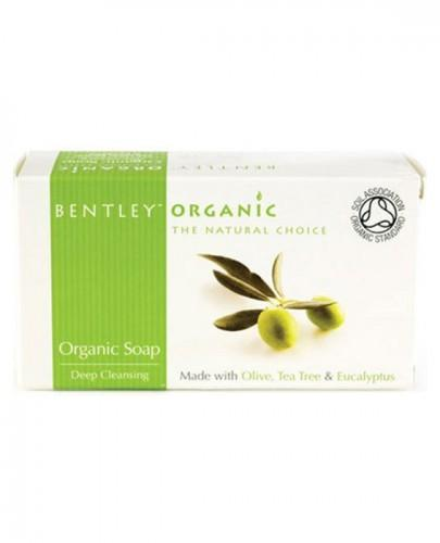 BENTLEY ORGANIC Mydło z oliwek, olejku herbacianego i eukaliptusa - 150 g - Apteka internetowa Melissa