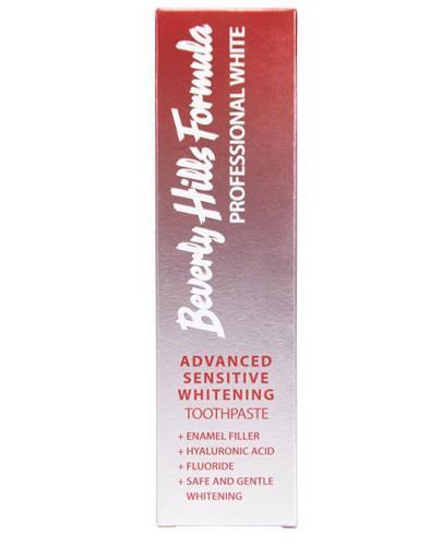 Beverly Hills Formula Professional White Advanced Sensitive Whitening Profesjonalna pasta do zebów wrażliwych - 100 ml - cena, opinie, skład - Drogeria Melissa