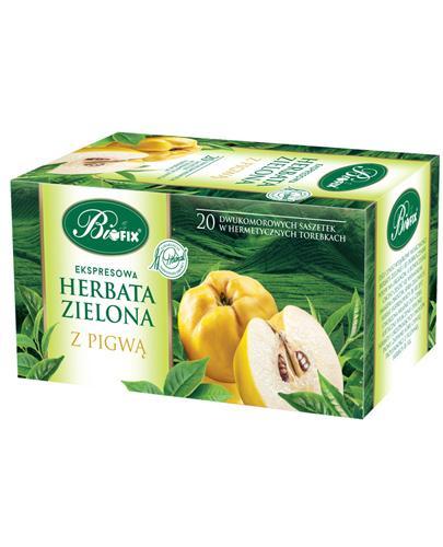 BI FIX Zielona herbata z pigwą - 20 sasz. - oczyszczanie organizmu - cena, stosowanie, opinie  - Apteka internetowa Melissa