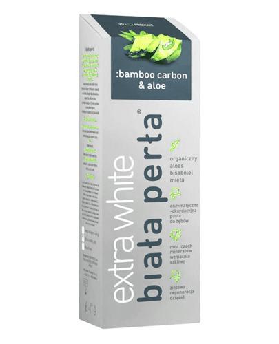 BIAŁA PERŁA EXTRA WHITE Pasta do zębów Bamboo carbon & aloe - 75 ml - cena, stosowanie, opinie