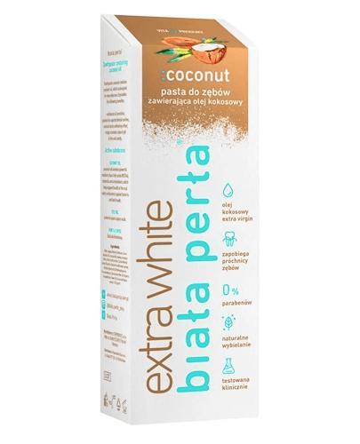 BIAŁA PERŁA EXTRA WHITE Pasta do zębów Coconut - 75 ml - cena, stosowanie, opinie