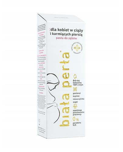 Biała Perła Pasta do zębów dla kobiet w ciąży i karmiących piersią - 75 ml - cena, opinie, skład - Drogeria Melissa
