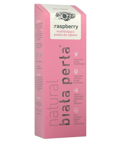 BIAŁA PERŁA Natural Raspberry wybielająca pasta do zębów - 75 ml