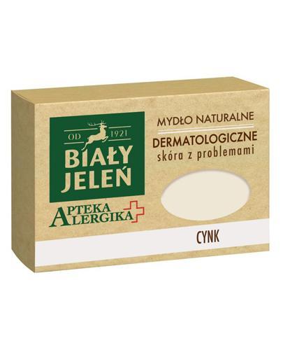 BIAŁY JELEŃ APTEKA ALERGIKA Mydło naturalne dermatologiczne CYNK - 125 g - cena, opinie, właściwości