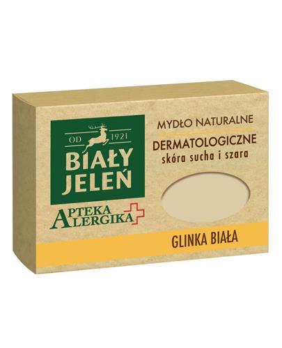 BIAŁY JELEŃ APTEKA ALERGIKA Mydło naturalne dermatologiczne GLINKA BIAŁA - 125 g - cena, opinie, właściwości