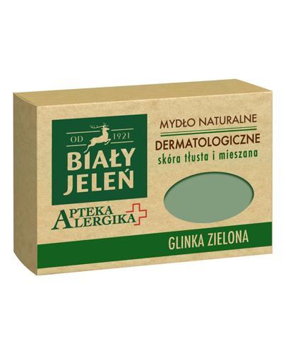 BIAŁY JELEŃ APTEKA ALERGIKA Mydło naturalne dermatologiczne GLINKA ZIELONA - 125 g - cena, opinie, właściwości - Apteka internetowa Melissa