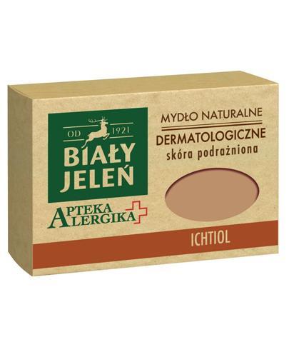 BIAŁY JELEŃ APTEKA ALERGIKA Mydło naturalne dermatologiczne ICHTIOL - 125 g - cena, opinie, właściwości