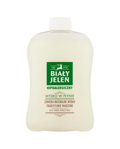 BIAŁY JELEŃ Hipoalergiczne mydło w płynie - 500ml zapas   - Apteka internetowa Melissa
