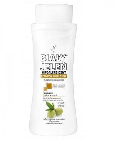 BIAŁY JELEŃ Hipoalergiczny szampon do włosów ciemnych naturalnych i farbowanych - 300 ml  - Apteka internetowa Melissa