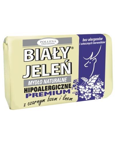 BIAŁY JELEŃ Hipoalergiczne mydło naturalne PREMIUM z czarnym bzem i lnem - 100 g - Apteka internetowa Melissa