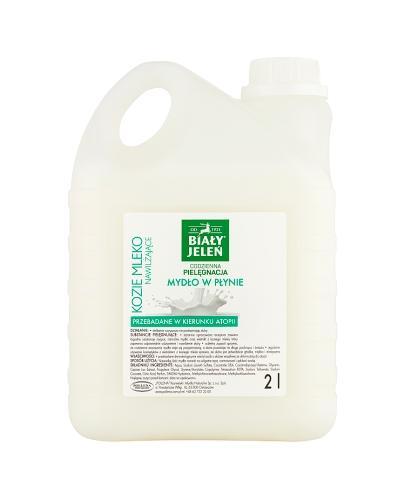 BIAŁY JELEŃ Mydło w płynie kozie mleko - 2 l - Apteka internetowa Melissa