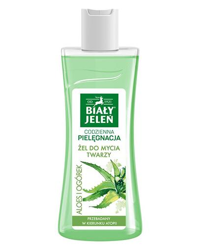 BIAŁY JELEŃ Żel do mycia twarzy z ekstraktem z aloesu i ogórka - 265 ml