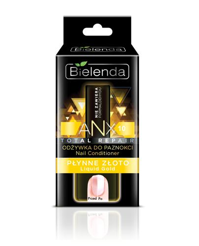 BIELENDA ANX Odżywka do paznokci płynne złoto - 11 ml - cena, opinie, właściwości  - Drogeria Melissa