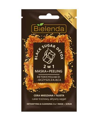 BIELENDA BLACK SUGAR DETOX 2w1 Maska+peeling detoksykująco-oczyszczająca - 8 g - Apteka internetowa Melissa