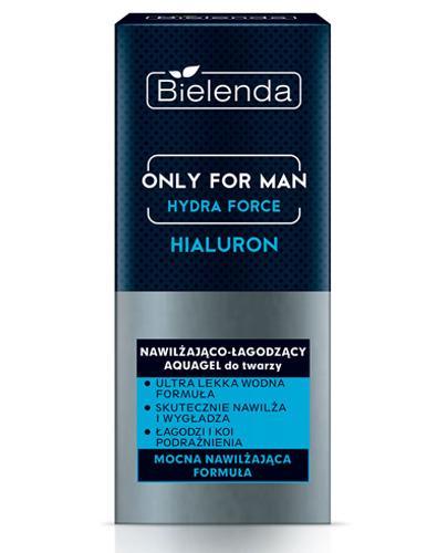 Bielenda Only For Man Hydra Force Nawilżająco - łagodzący aquagel do twarzy - 50 ml - cena, opinie, właściwości