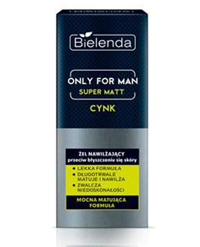 Bielenda Only For Man Super Matt Żel nawilżający przeciw błyszczeniu się skóry - 50 ml - cena, opinie, właściwości