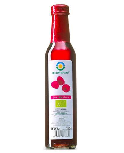 BIO FOOD Syrop z malin - 250 ml O działaniu napotnym - cena, opinie, stosowanie - Drogeria Melissa