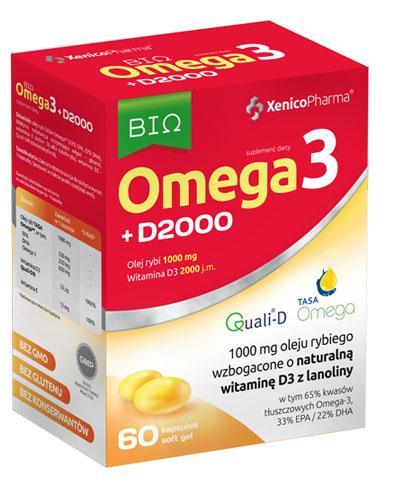 BIO Omega3 + D2000 - 60 kaps Na serce i odporność - cena, opinie, stosowanie - Apteka internetowa Melissa