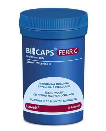 BICAPS FERR C - 60 kaps. Żelazo i witamina C. - Apteka internetowa Melissa