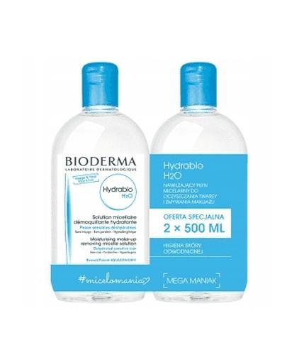 BIODERMA HYDRABIO H2O Płyn micelarny 2 x 500 ml