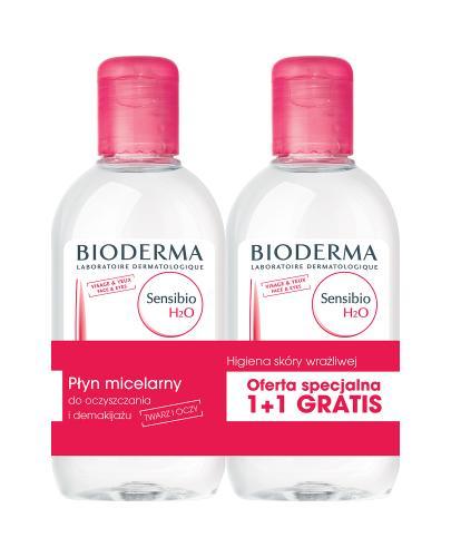 BIODERMA SENSIBIO H2O DUOPACK Płyn micelarny do oczyszczania twarzy i zmywania makijażu - 2 x 250 ml - Drogeria Melissa