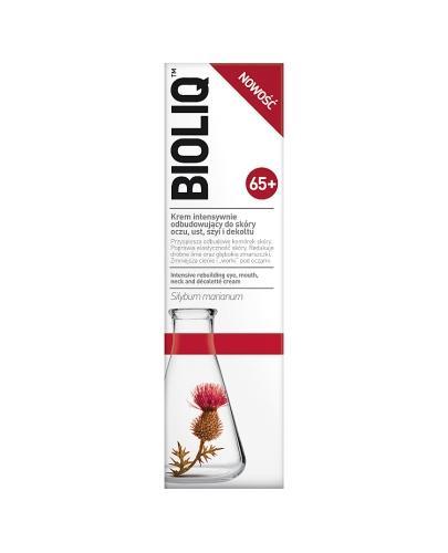 Bioliq 65+ Krem intensywnie odbudowujący do skóry oczu, ust, szyi i dekoltu - 30 ml - cena, opinie, właściwości  - Drogeria Melissa