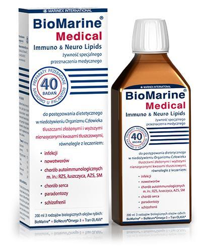 BioMarine Medical Immuno & Neuro Lipids - 200 ml - cena, opinie, stosowanie - Drogeria Melissa