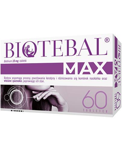 Biotebal Max 10 mg - 60 tabl. - cena, opinie, właściwości - Apteka internetowa Melissa