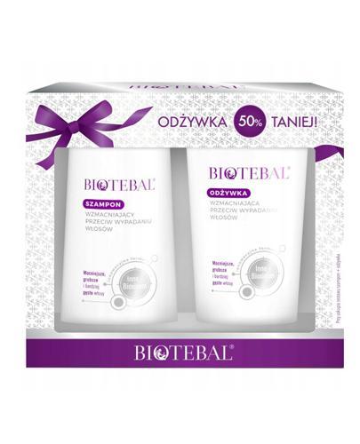 BIOTEBAL Zestaw szampon wzmacniający + odżywka wzmacniająca - 200 ml + 200 ml