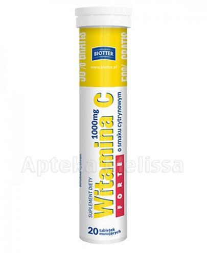 BIOTTER WITAMINA C FORTE 1000 mg - 20 tabl. mus.
