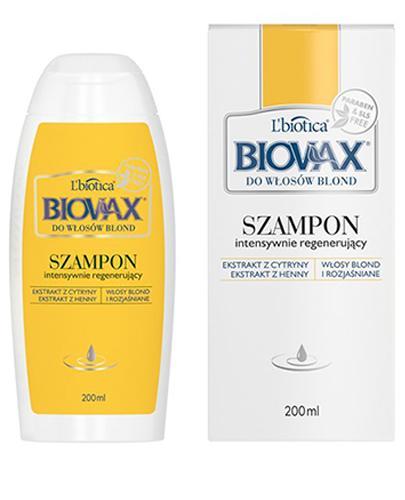 BIOVAX DO WŁOSÓW BLOND Intensywnie regenerujący szampon - 200 ml - Drogeria Melissa