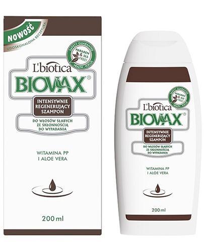 BIOVAX DO WŁOSÓW SŁABYCH ZE SKŁONNOŚCIĄ DO WYPADANIA Intensywnie regenerujący szampon - 200 ml - Drogeria Melissa