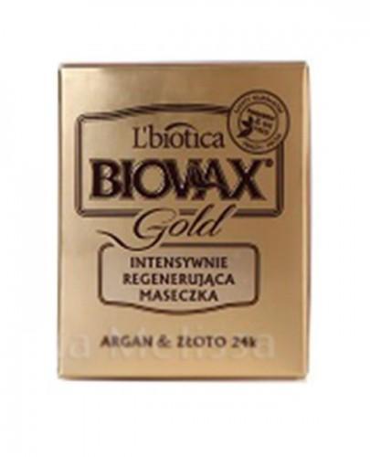 BIOVAX GLAMOUR GOLD Intensywnie regenerująca maseczka do włosów - 125 ml