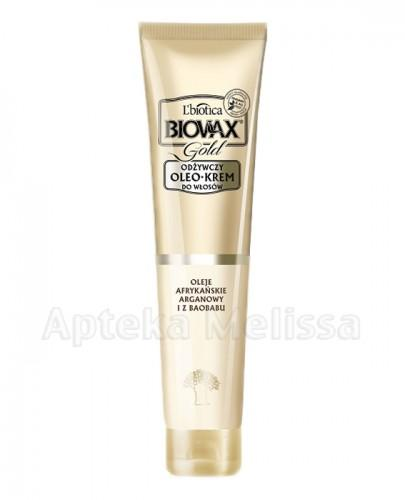 BIOVAX GOLD Odżywczy oleokrem do włosów z olejami afrykańskim arganowym i z baobabu - 125 ml - Apteka internetowa Melissa