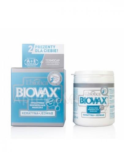 BIOVAX KERATYNA + JEDWAB Intensywnie regenerująca maseczka - 250 ml - Drogeria Melissa