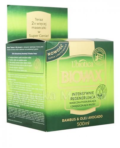 BIOVAX BAMBUS & OLEJ AVOCADO Intensywnie regenerująca maseczka pogrubiająca i zagęszczająca włosy - 500 ml