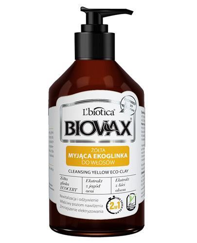 BIOVAX MYJĄCA EKOGLINKA Żółta glinka do włosów - 200 ml - cena, opinie, właściwości  - Drogeria Melissa