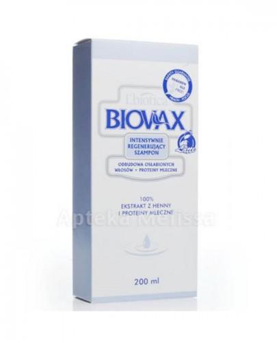 BIOVAX ODBUDOWA OSŁABIONYCH WŁOSÓW + PROTEINY MLECZNE Intensywnie regenerujący szampon - 200 ml - Apteka internetowa Melissa