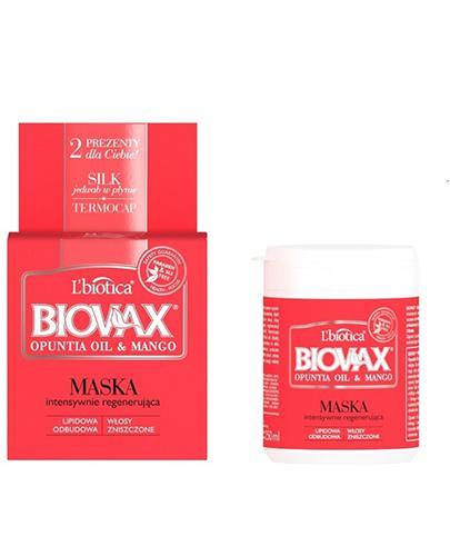 BIOVAX OPUNTIA OIL & MANGO Maska intensywnie regenerująca - 250 ml