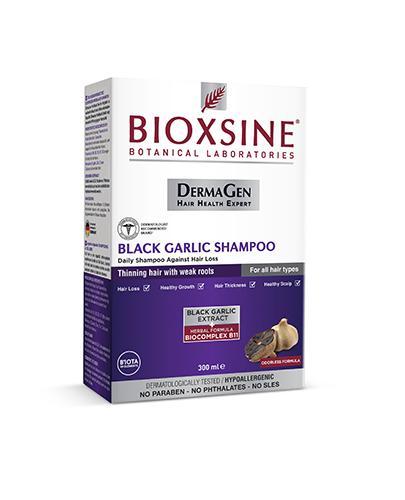 Bioxsine Dermagen Szampon z czarnego czosnku przeciw wypadaniu włosów - 300 ml - cena, opinie, właściwości - Apteka internetowa Melissa